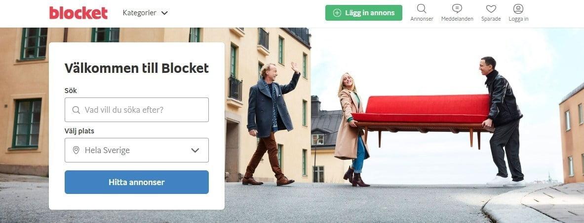 Sälj dina möbler hos Blocket