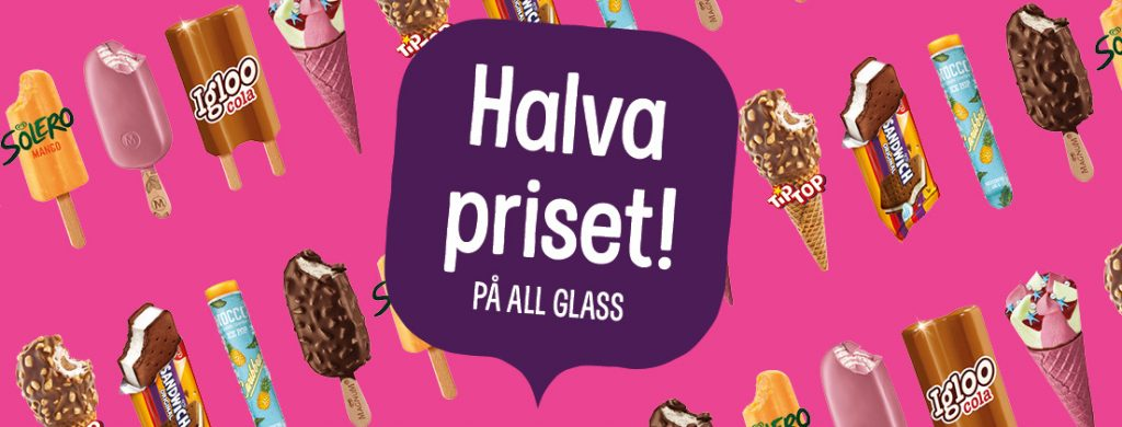 Glass på Pressbyrån halva priset