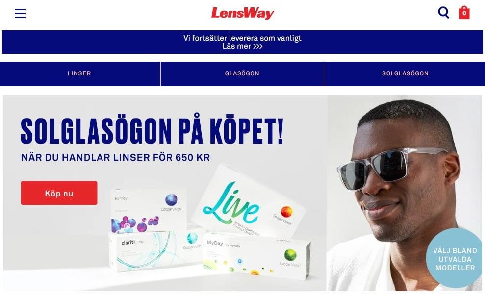 Beställ linser gratis hos Lensway
